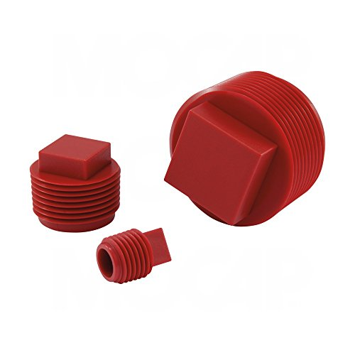 SPN0750RD4 Square Head Plug for 3/4-14 NPT Threads, PP Red - MOCAP (qty400) by MOCAP