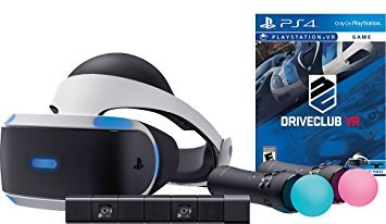 Sony PlayStation VR DriveClub Starter Bundle 4 items: VR,motion, camera and vr game disc- PSVR DriveClub
