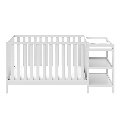 Storkcraft Pacific 4-in-1 Convertible Crib and Changer, - Storkcraft White Crib