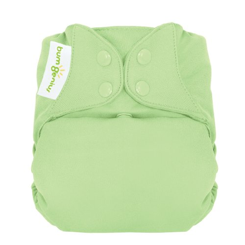 bumGenius Freetime All-In-One One-Size Snap Closure Cloth Diaper (Grasshopper)