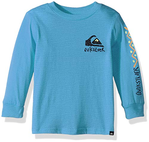 (Quiksilver Boys' Little Yoshino Blossom Long Sleeve TEE, Malibu Heather, 2)