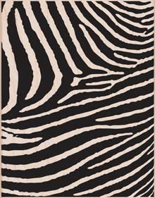 Hero Arts Zebra Print Woodblock Stamp