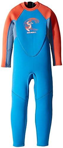 O'NEILL(オニール) ガールズスウェットスーツ Reactor Full Wetsuit (Infant/Toddler/Little Kids) Brite Blue/Dusty Blue/Neon Red 12 Months 12ヶ月 [並行輸入品]