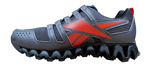 Reebok Mens ZigWild TR 2 Running Shoes, 11 D(M) US, Ash Grey, Black, Red, Gravel
