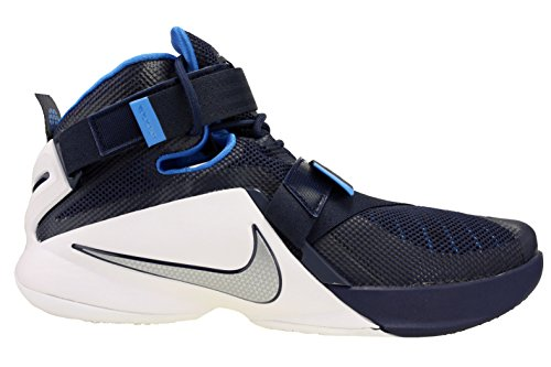 Lebron Midnight Uomo Soldier IX Blue Scarpe White Navy Photo Silver Metallic Sportive Nike OwpqYdw