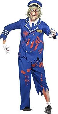 Smiffys Zombie - Disfraz de piloto y capitán con Chaqueta, Camisa ...