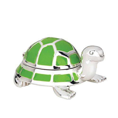 Reed & Barton Jungle Parade Silverplate Turtle Tooth Fairy Box