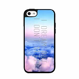 I Dream But I Don't Sleep - TPU RUBBER SILICONE Phone Case Back Cover iPhone 5 5s