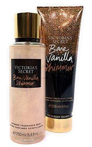 Victoria's Secret Bare Vanilla Shimmer Fragrance Mist and Lotion Set