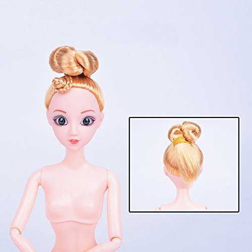 (Nude Doll With Head 13 Joint Moving Naked Bodies DIY Toy Accessory Gift)