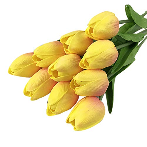 Yamart Artificial Tulip, Fake Flowers Artificial Tulip Artificial Flower Bridal Wedding Bouquet for Home Garden Party Wedding Decoration - 20Pcs
