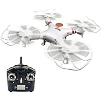 WildGrow® F2C Aviax Remote Control Quadcopter Drone Helicopter with HD Camera & Transmitter & Gyro System & LED Lights & 4G SD Card & SD Card Reader