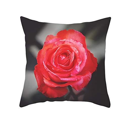 Black Rose Sofá Decorativo Cojín Suave Funda de Cojín for ...