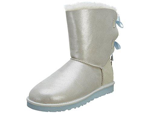 UGG Women's Bailey Bow Bling  I Do! White Boot 10 B - Medium (Ugg Bow Bailey Womens Boots)