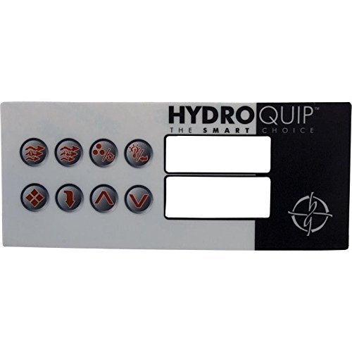 - Hydro-Quip 80-0211 8-Button HT2 Spa Side Label