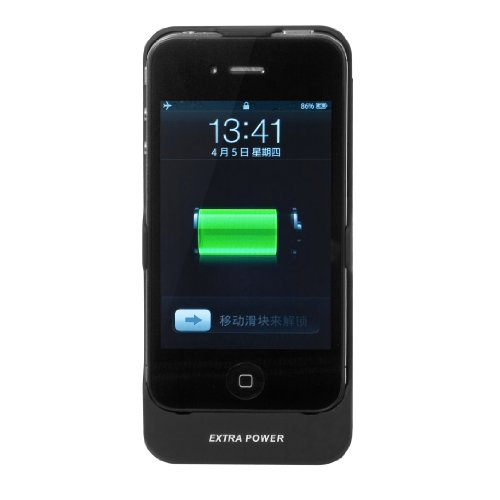 XCSource External Battery Case Charger For Apple iPhone 4 4S 4G 2350mAh Backup Power Backup BC1B