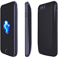 iPhone 7 Plus Battery Case by ChicCosmo, 7500mAh Rechargeable Extended Battery Charging Case for iPhone 7 (5.5 inch), External Battery Charger Case, Backup Power Bank Case (Black)