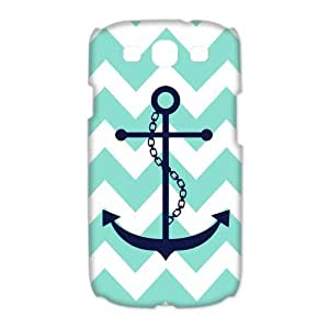 Classic Anchor Chevron Pattern Back Cover Case Suitable for Samsung Galaxy S3 I9300(2)