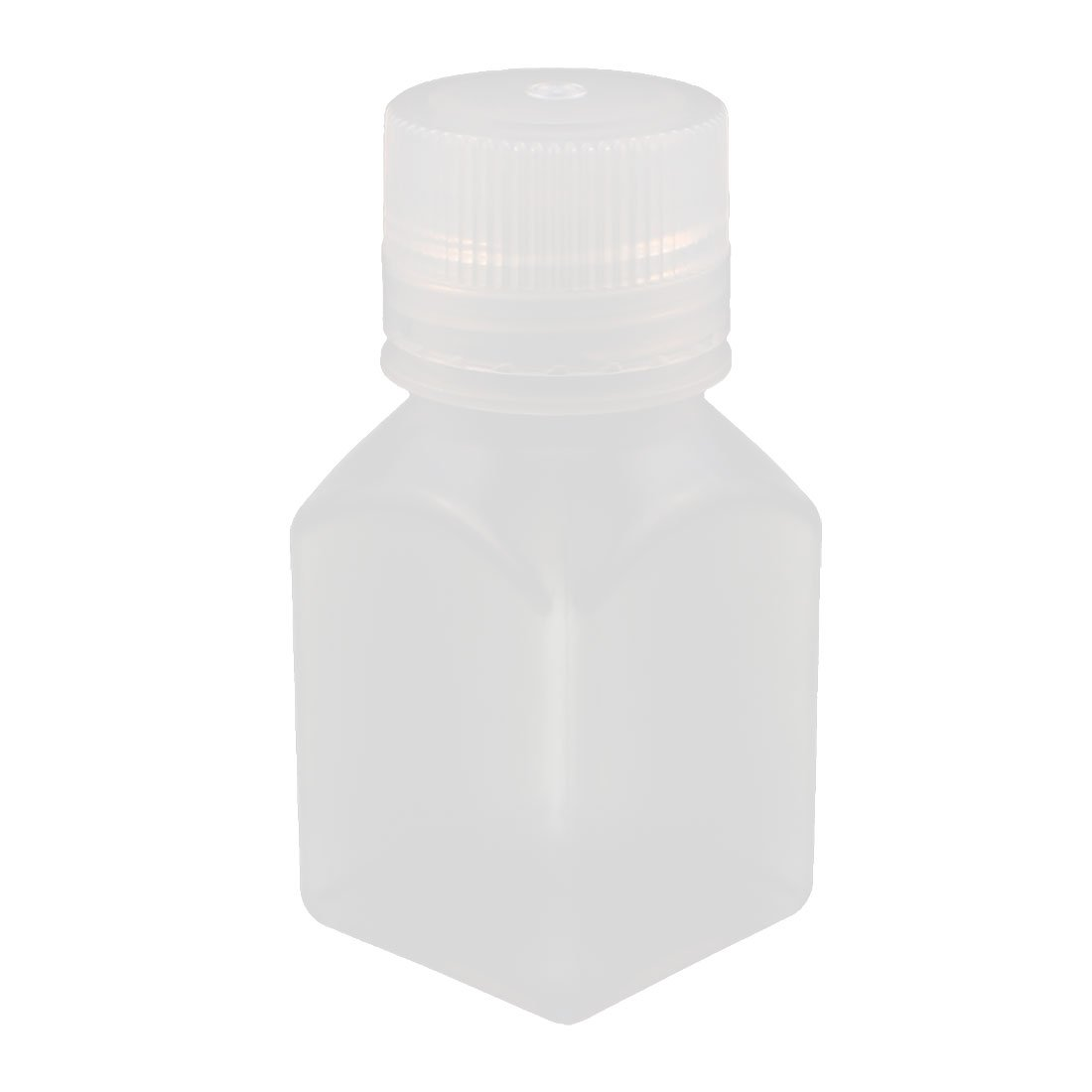 sourcingmap® 100ml PP Square Wide Mouth Seal Reagent Bottle Chemical Sample Bottle a16082700ux0334