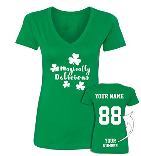 Delicious Custom Jerseys St Patrick's Day V Neck T Shirts - Saint Pattys Outfits