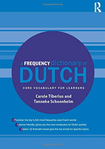 A Frequency Dictionary Of Dutch  Routledge Frequency Dictionaries