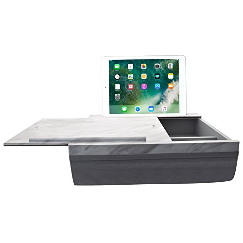 iCozy Portable Cushion Lap Desk With Storage - Marble / Charcoal Grey by  (Image #8)