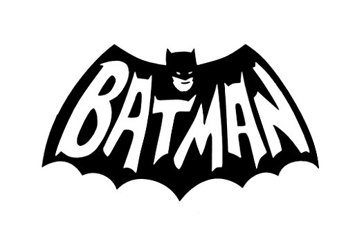 Batman Decal Vinyl Sticker|Cars Trucks Vans Walls Laptop| Black |5.5 x 3.25 in|CCI1380