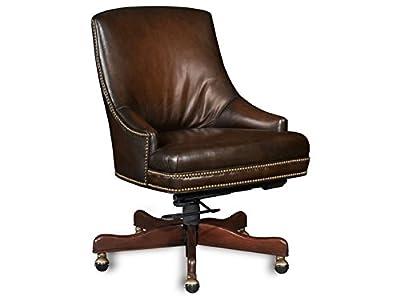 Hooker Furniture Heidi Executive Swivel Tilt Arm Chair, Brown