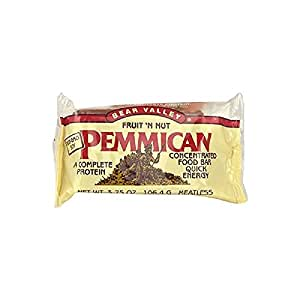 Bear Valley Pemmican Bars, Fruit & Nut, 3.75-Ounce Bars (Pack of 12)