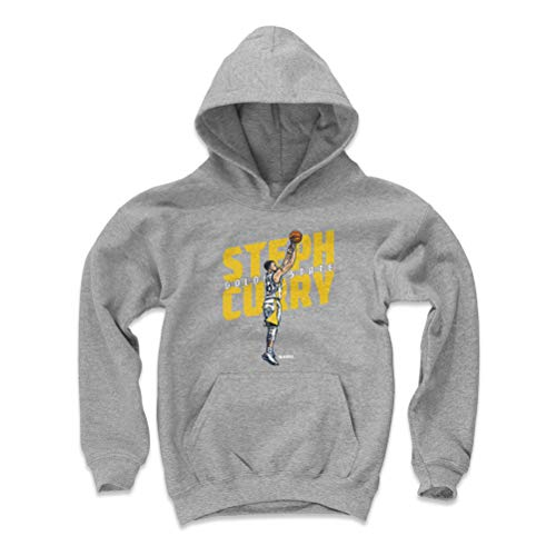 Hooded Basketball (500 LEVEL Steph Curry Golden State Basketball Youth Sweatshirt (Kids Large, Gray) - Steph Curry Jumper Y WHT)