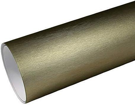 Rapid Teck 8 55 M Autofolie Serie Z560 Chrom 3d Brushed Gold 1m X 1 52m Alu Gebürstet Selbstklebende Premium Car Wrapping Folie Mit Luftkanal Baumarkt
