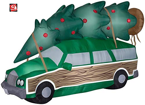 AIR CHARACTERS 8' Gemmy Airblown Inflatable Clark Griswold Station Wagon w/Christmas Tree National Lampoons Christmas Vacation 110518