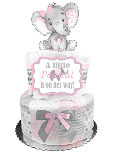 Elephant Diaper Cake - It
