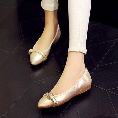 Cómodo y elegante soporte de zapatos de las mujeres pisos talón comodidad funda de piel Casual de Primavera/Otoño soporte de otros color blanco otros blanco