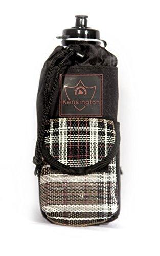 Kensington KPP All Around Single Bottle Holder, Deluxe Black Plaid, One Size (Deluxe Trail Saddle)