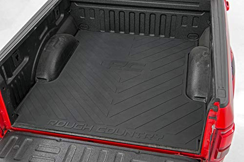 Rough Country Rubber Bed Mat (fits) 2003-2019 Dodge Ram 6.4 FT Bed RCM600 Bed Mat w/RC Logos Ram