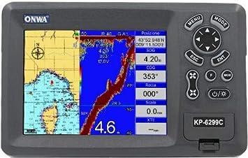 Plotter Cartográfico con Ecoscandaglio ONWA KP-6299C con transductor pasante de Bronce: Amazon.es: Electrónica