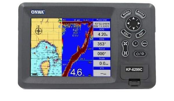 Plotter Cartografía con Ecoscandaglio ONWA KP-6299C con ...