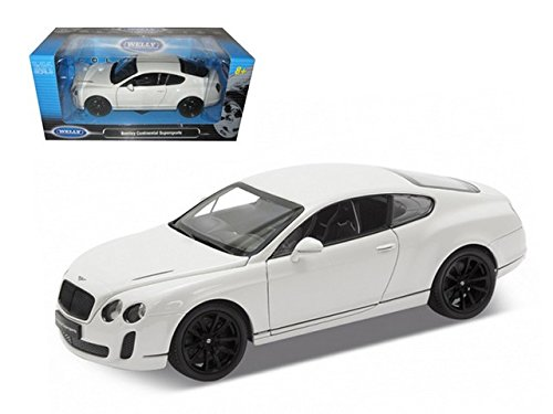 Welly 24018w Bentley Continental Supersports White 1-24 Diecast Car Model (Bentley Model Car compare prices)