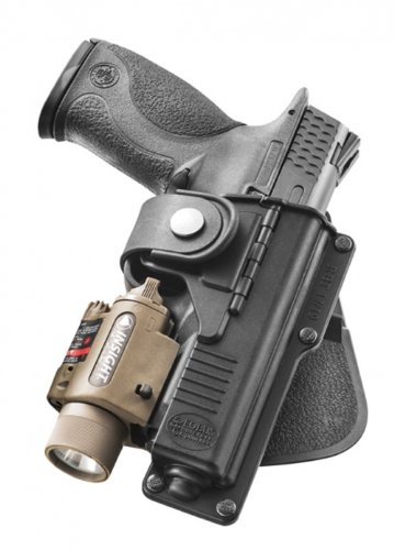 Fobus RBT19 Tactical Holster for Glock 19, 23, 32, 45- Light or Laser Required, Right Hand Paddle]()