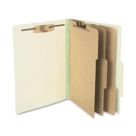 ACCO 15048 Pressboard 25-Pt Classification Folders, Letter, 8-Section, Leaf Green, 10/Box Acco Recycled Classification Folders