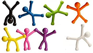 Mag-Man Magnetic Character by: Meshia-C- Strong Magnets in each Hand and Foot..Use on Filing Cabinet, Refrigerator, in your Vehicle, or Just a Fun Toy. Kids absolutely love these little guys. STRESSless LIFE