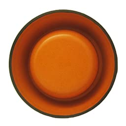 Alfie Pet by Petoga Couture - Kima Bamboo Fiber Eco-Friendly Pet Round Bowl (for Dogs & Cats) - Color: Orange, Size: XL