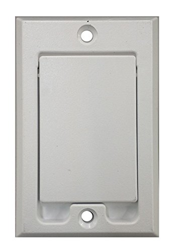 Central Vacuum Square Door Inlet Wall Plate White for Nutone Beam VacuFlow - wall vacuum - central vacuum wall plate - central vac inlet - whole house vacuum wall plate - beam central vacuum hose cove