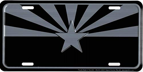Signs 4 Fun Arizona Flag Tactical Metal License Plate