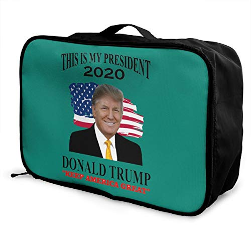 Donald Trump 2020 Election USA Keep America Great Lightweight Large Capacity Portable Luggage Bag Fashion Travel Duffel…