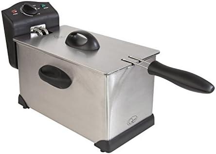 Quest 35140 Stainless Steel Deep Fat Fryer, 3 Litre, 2000W, 40x18x25cm, Silver