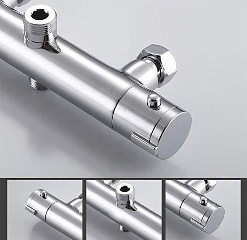Amazon.com: FYLD - Sistema de ducha termostático, control de ...