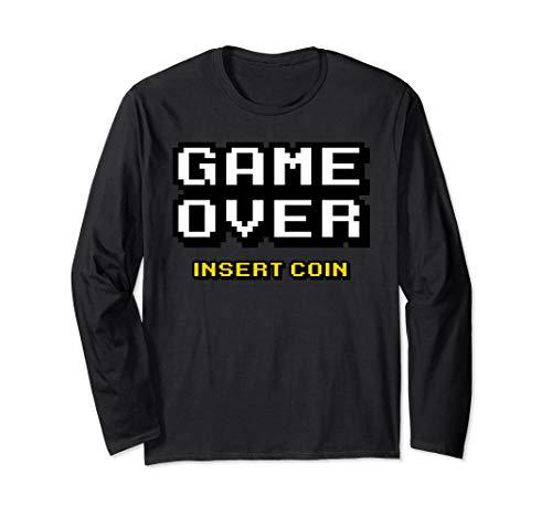 GAME OVER Arcade Pinball 8bit Long Tee by retro shirts