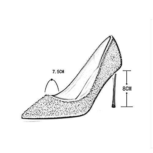 Shoe Season Court Sexy 2018 Shoes Shoes MuMa Wedding 8cm Crystal High Spring Pointed Bridal Heels pFBSW